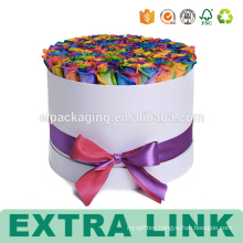 Cardboard Round Hat Flower Preserved Paper Box With Window